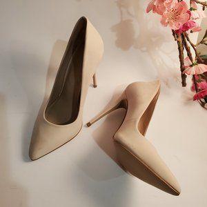 Aldo Riely Cream-tone Suede Stilettos